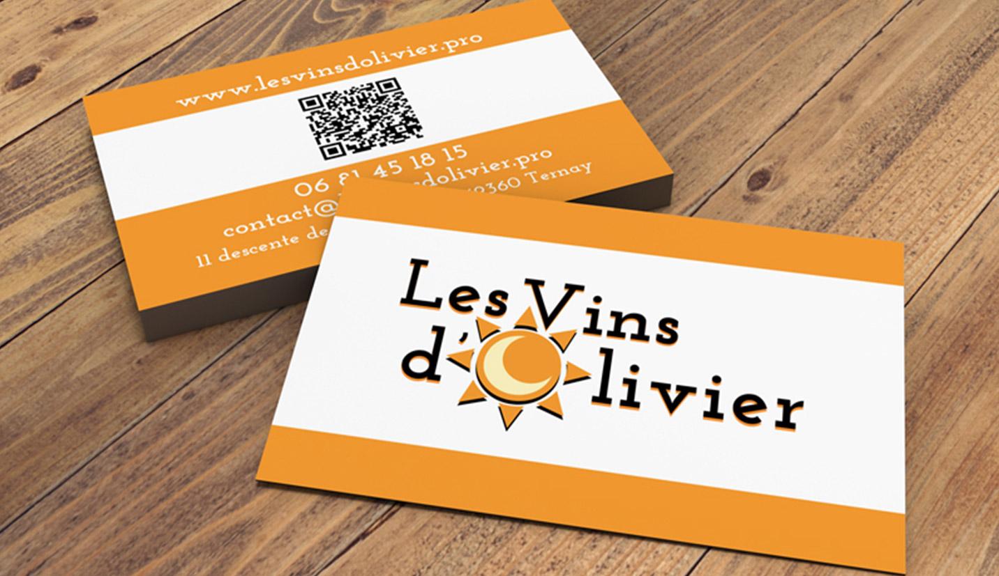 Carte de visite les-vins-d'olivier