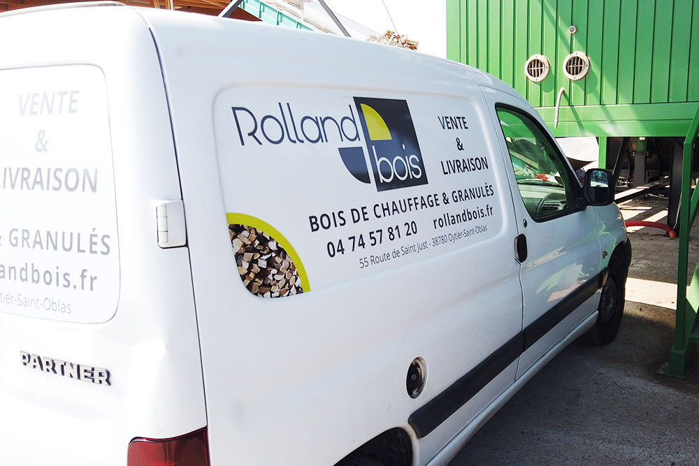 marquage véhicule Rollandbois